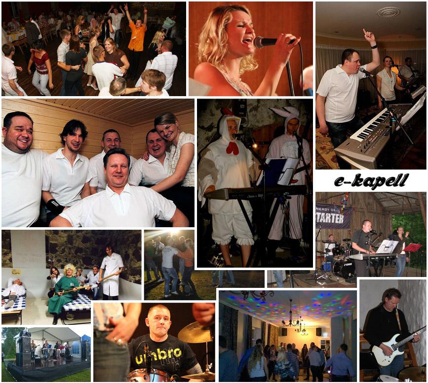 e-kapell muusika peobänd pulmabänd pidu ansambel bänd